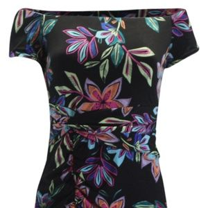 Guess Off Shoulder Dahlia Dress Technicolor Lily B
